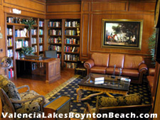 This study at the Valencia Lakes clubhouse is an inviting place to spend a quiet afternoon with the latest novel.