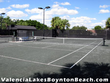 These lighted tennis courts host many a rousing match.
